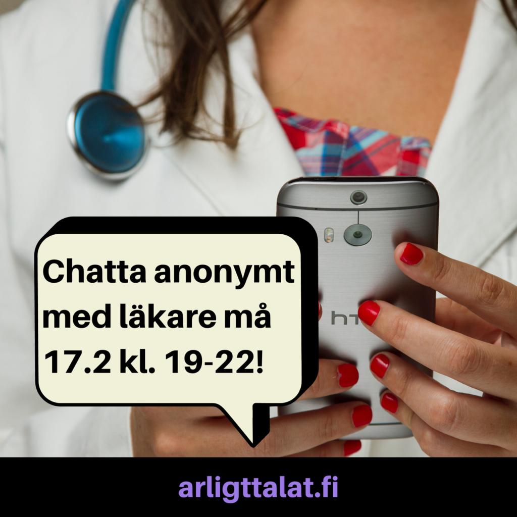 Vecka 8: chatten gästas av läkare