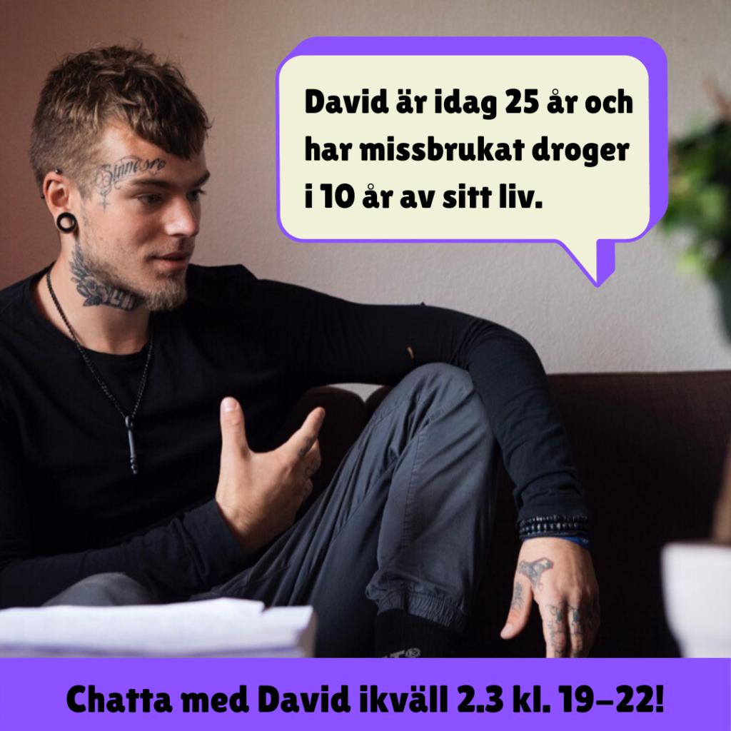 Vecka 10: chatten gästas av erfarenhetsexpert David Björkström